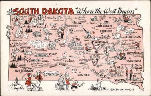 Pictorial Map of South Dakota